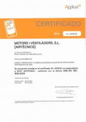 ISO 9001:2015 Certificado - Airtècnics