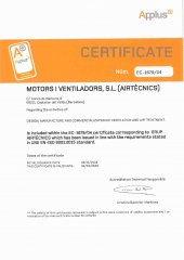 ISO 9001:2015 Certificate - Airtècnics