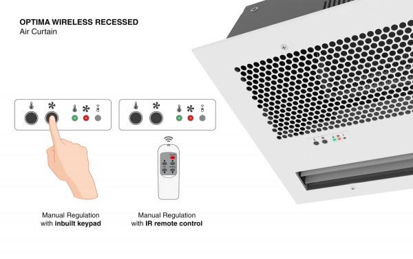 Forsænket Optima Wireless lufttæppe