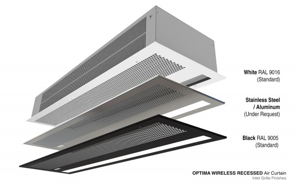 Air curtain Recessed Optima Wireless