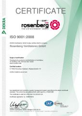 ISO 9001:2015 Certificat - Rosenberg