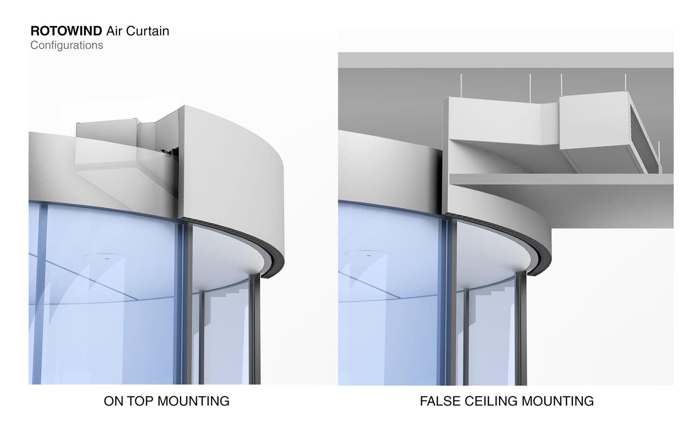 Air Curtain Rotowind Revolving Door Air Curtains