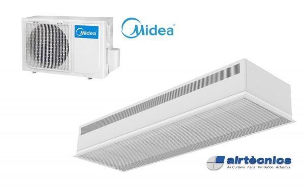 Встраиваемая Воздушная завеса Dam DX с Тепловым Насосом MIDEA