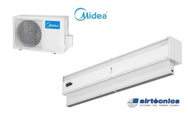 Invisair DX varmepumpebasert luftgardin for MIDEA
