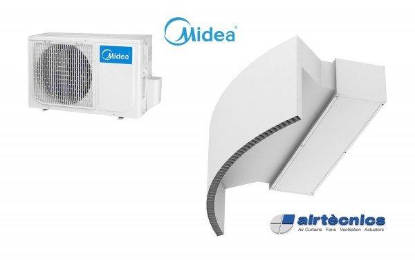 Cortina de ar com bomba de calor Rotowind DX para MIDEA
