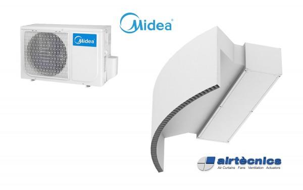 Vzduchová clona Rotowind DX pro tepelné čerpadlo MIDEA