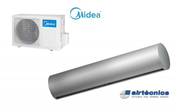 Vzduchová clona Rund DX pro tepelné čerpadlo MIDEA
