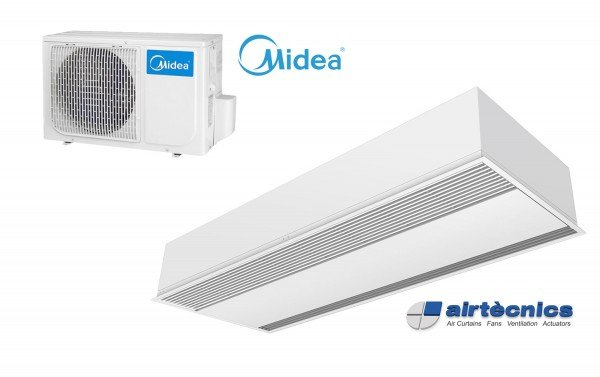 Barriera d'aria Recessed Windbox DX in pompa di calore per MIDEA