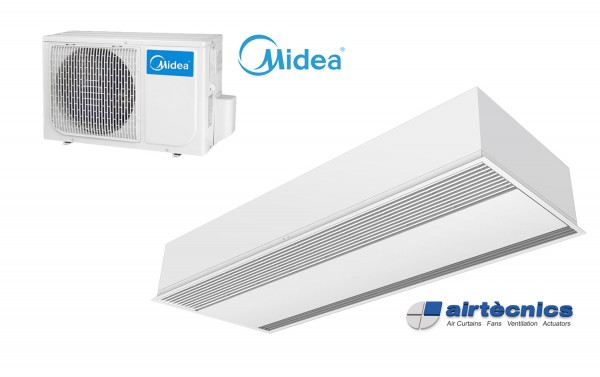 Heat Pump Air curtain Recessed Windbox DX for MIDEA