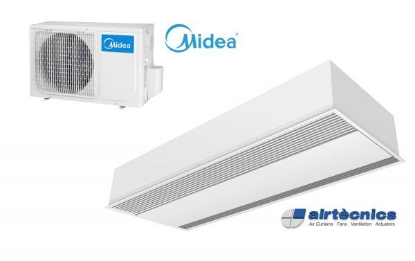 Barriera d'aria Recessed Windbox DX in pompa di calore per MIDEA