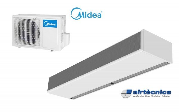 Windbox DX varmepumpebasert luftgardin for MIDEA