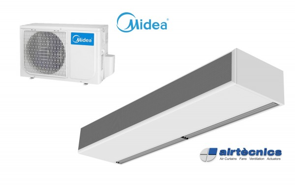 Barriera d'aria Windbox DX in pompa di calore per MIDEA