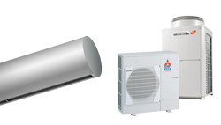 Heat Pump Air curtain Rund DX for MITSUBISHI ELECTRIC