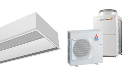 Windbox innfelt varmepumpebasert luftgardin for MITSUBISHI ELECTRIC