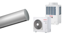 Heat Pump Air curtain Rund DX for TOSHIBA
