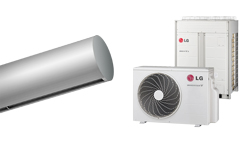 Barriera d'aria Rund DX in pompa di calore per LG