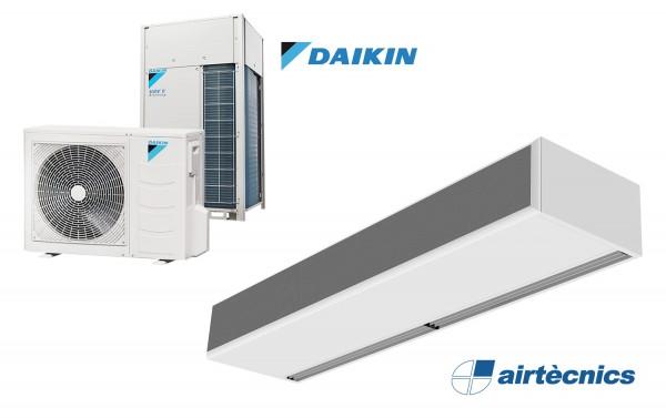 Rideau d'air Windbox avec pompe à chaleur pour DAIKIN