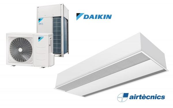 Rideau d'air encastré Windbox avec pompe à chaleur pour DAIKIN
