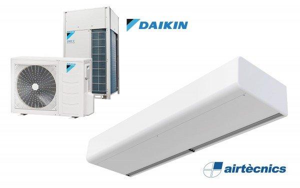 Cortina de ar Smart DX com bomba de calor para DAIKIN
