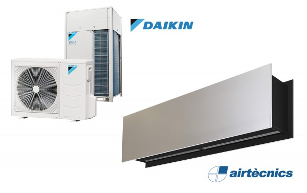 Rideau d'air Zen DX avec pompe à chaleur pour DAIKIN