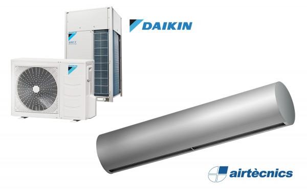 Wärmepumpentürluftschleier Rund DX für DAIKIN