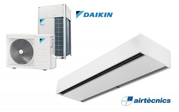 Rideau d'air Dam DX avec pompe à chaleur pour DAIKIN