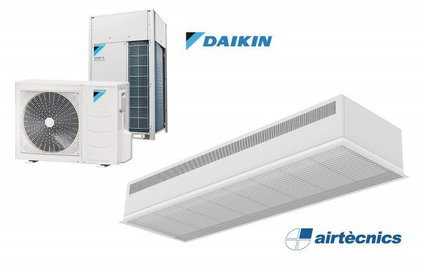 Barriera d'aria Recessed Dam DX in pompa di calore per DAIKIN