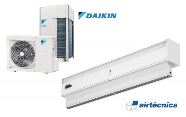 Rideau d'air Invisair DX avec pompe à chaleur pour DAIKIN