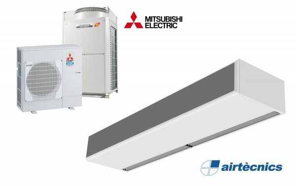 Barriera d'aria Windbox DX in pompa di calore per MITSUBISHI ELECTRIC