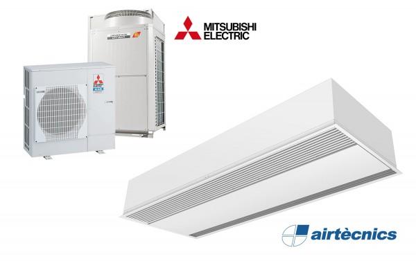 Barriera d'aria Recessed Windbox DX in pompa di calore per MITSUBISHI ELECTRIC