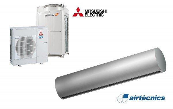 Heat Pump Air curtain Rund DX for MITSUBISHI ELECTRIC