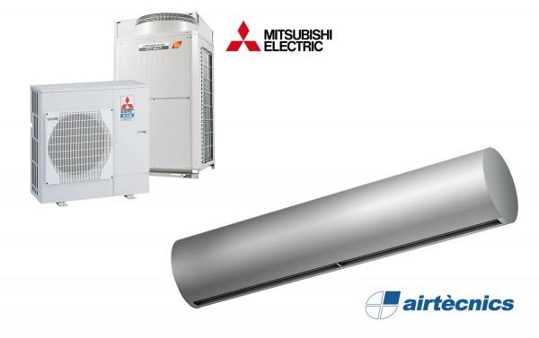 Warmtepomp Luchtgordijn Rund DX voor MITSUBISHI ELECTRIC