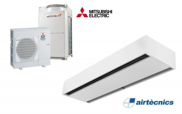 Dam DX varmepumpebasert luftgardin for MITSUBISHI ELECTRIC