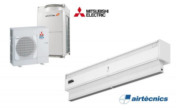 Rideau d'air Invisair DX avec pompe à chaleur pour MITSUBISHI ELECTRIC