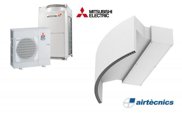 Vzduchová clona Rotowind DX pro tepelné čerpadlo MITSUBISHI ELECTRIC