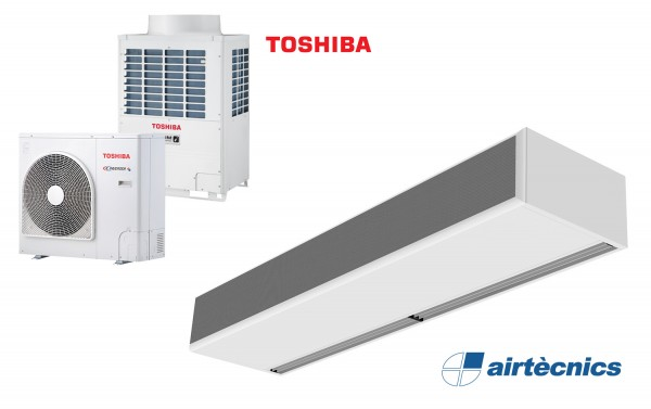 Cortina de ar Windbox DX-TO com bomba de calor para TOSHIBA