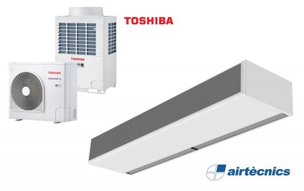 Barriera d'aria Windbox DX in pompa di calore per TOSHIBA