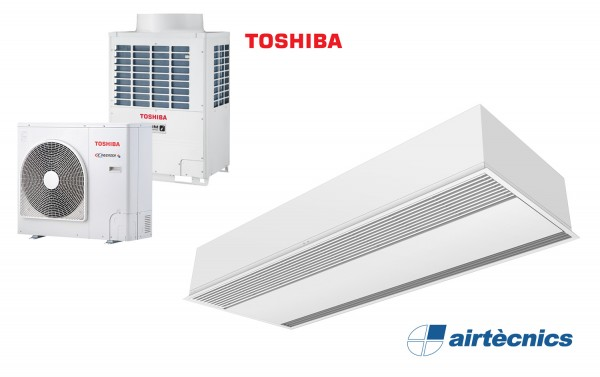 Cortina Windbox Encastable DX per Bomba de Calor TOSHIBA