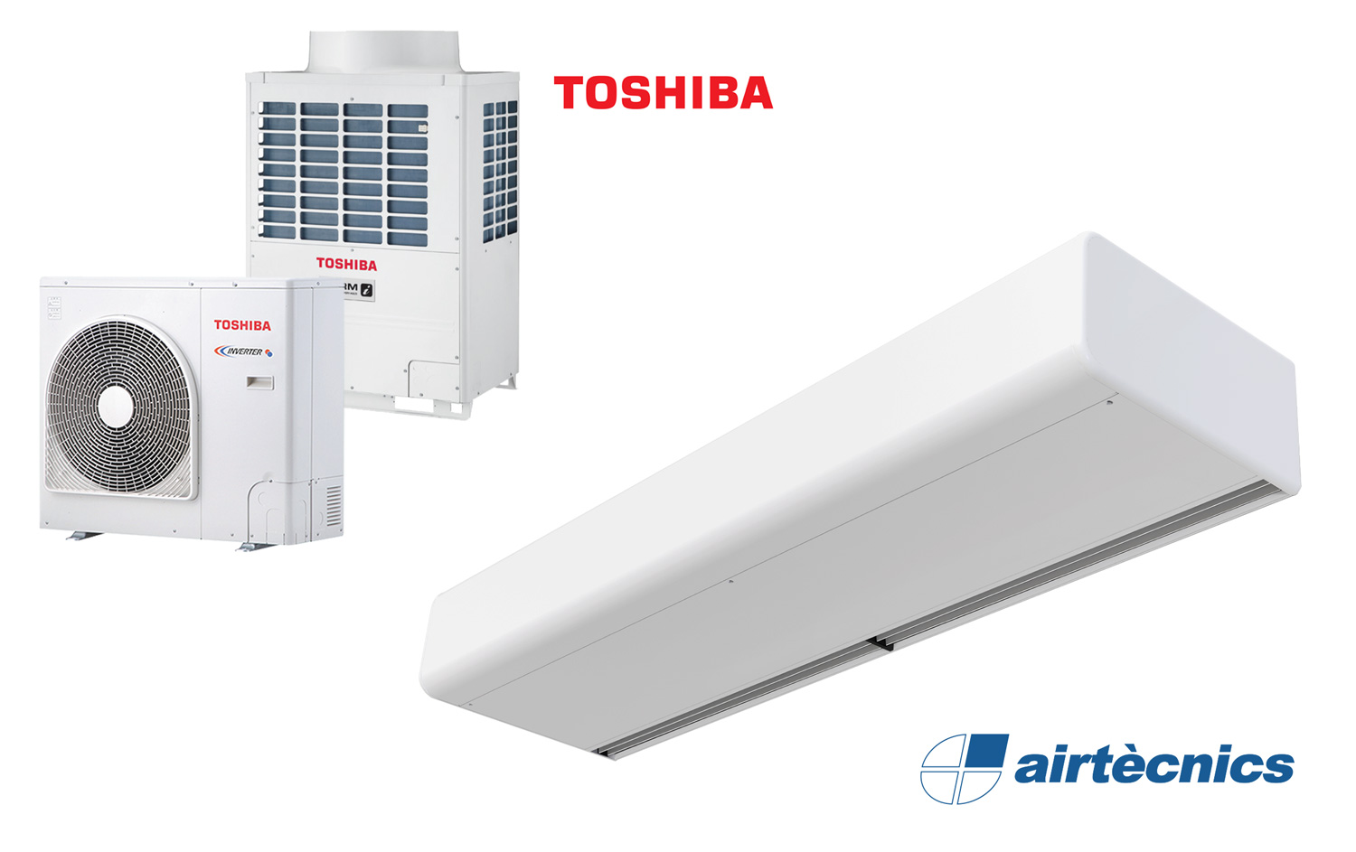 Decorative Smart Dx Air Curtain For Heat Pump Toshiba With Front