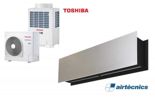 Zen DX varmepumpebasert luftgardin for TOSHIBA