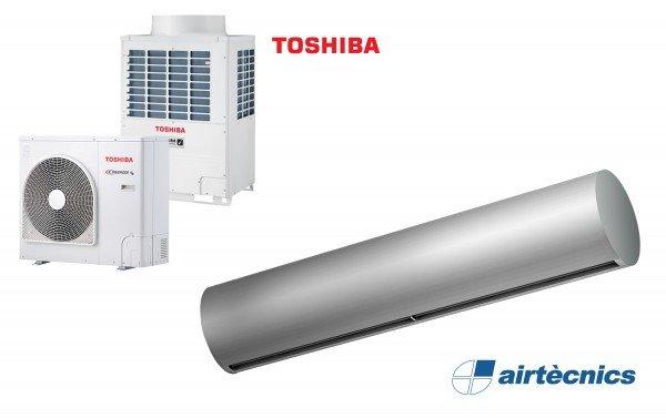Cortina de ar Rund DX com bomba de calor para TOSHIBA