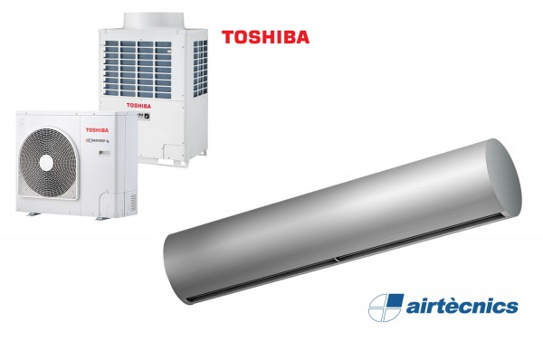 Wärmepumpentürluftschleier Rund DX für TOSHIBA