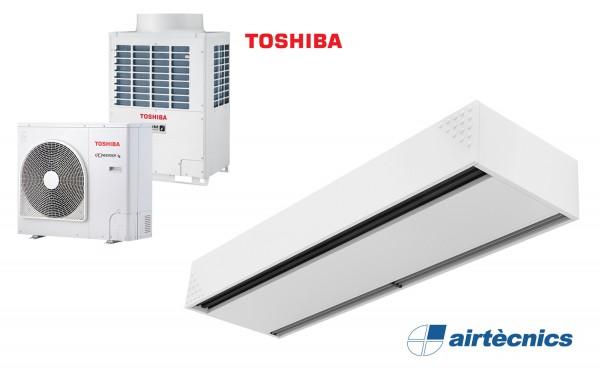 Barriera d'aria Dam DX in pompa di calore per TOSHIBA