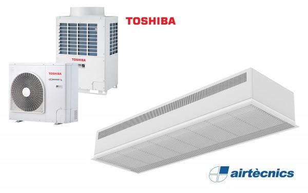 Wärmepumpentürluftschleier Recessed Dam DX für TOSHIBA
