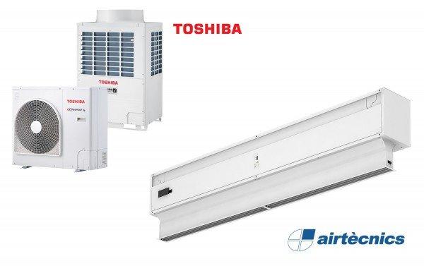 Heat Pump Air curtain Invisair DX for TOSHIBA