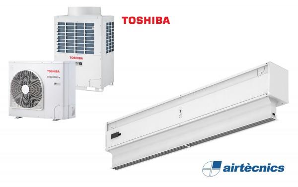 TOSHIBA için Isı Pompalı Hava Perdesi Invisair DX