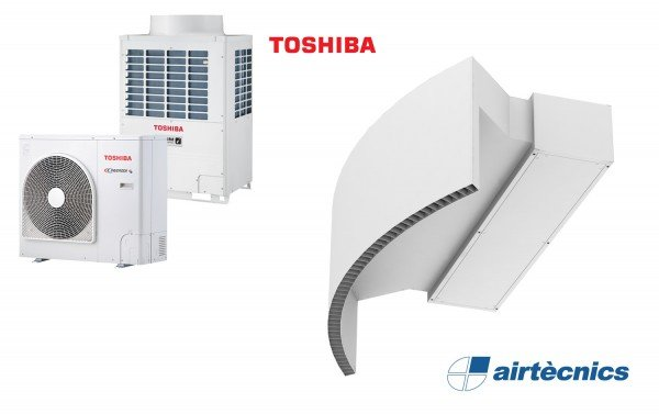 Heat Pump Air curtain Rotowind DX for TOSHIBA