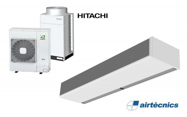 Cortina d'aire Windbox per Bomba de Calor HITACHI
