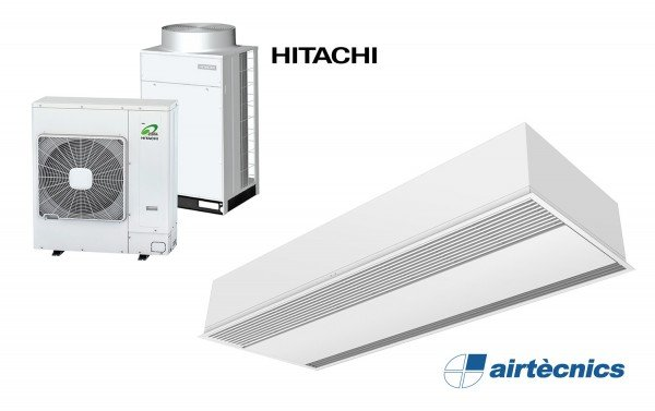 Cortina Windbox Encastable per Bomba de Calor HITACHI