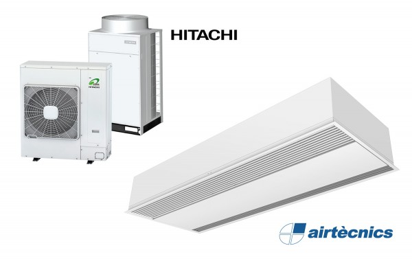 Barriera d'aria Recessed Windbox DX in pompa di calore per HITACHI